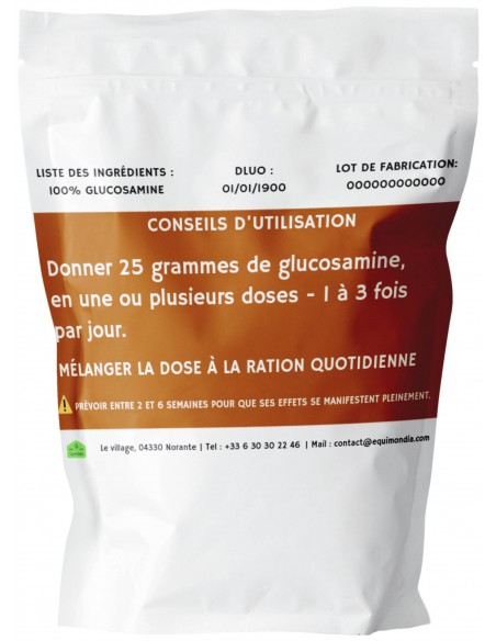 Glucosamine cheval emballage back 1kg
